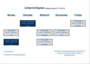Terminkalender Theorieunterricht